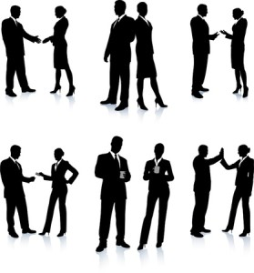 20482385 - business team silhouette collection original vector illustration people silhouette sets