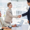 25765277 - business people shaking hands with their future patner in their office