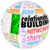 37956981 - relationship building words on a ball or sphere to illustrate networking and meeting new people in job, career, life or organizations